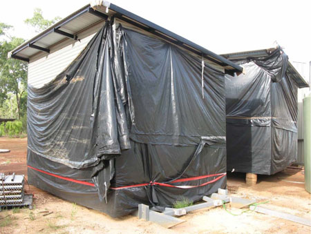 Shower, laundry and toilet blocks for Groote … not really