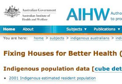 Loss of Indigenous Housing Data