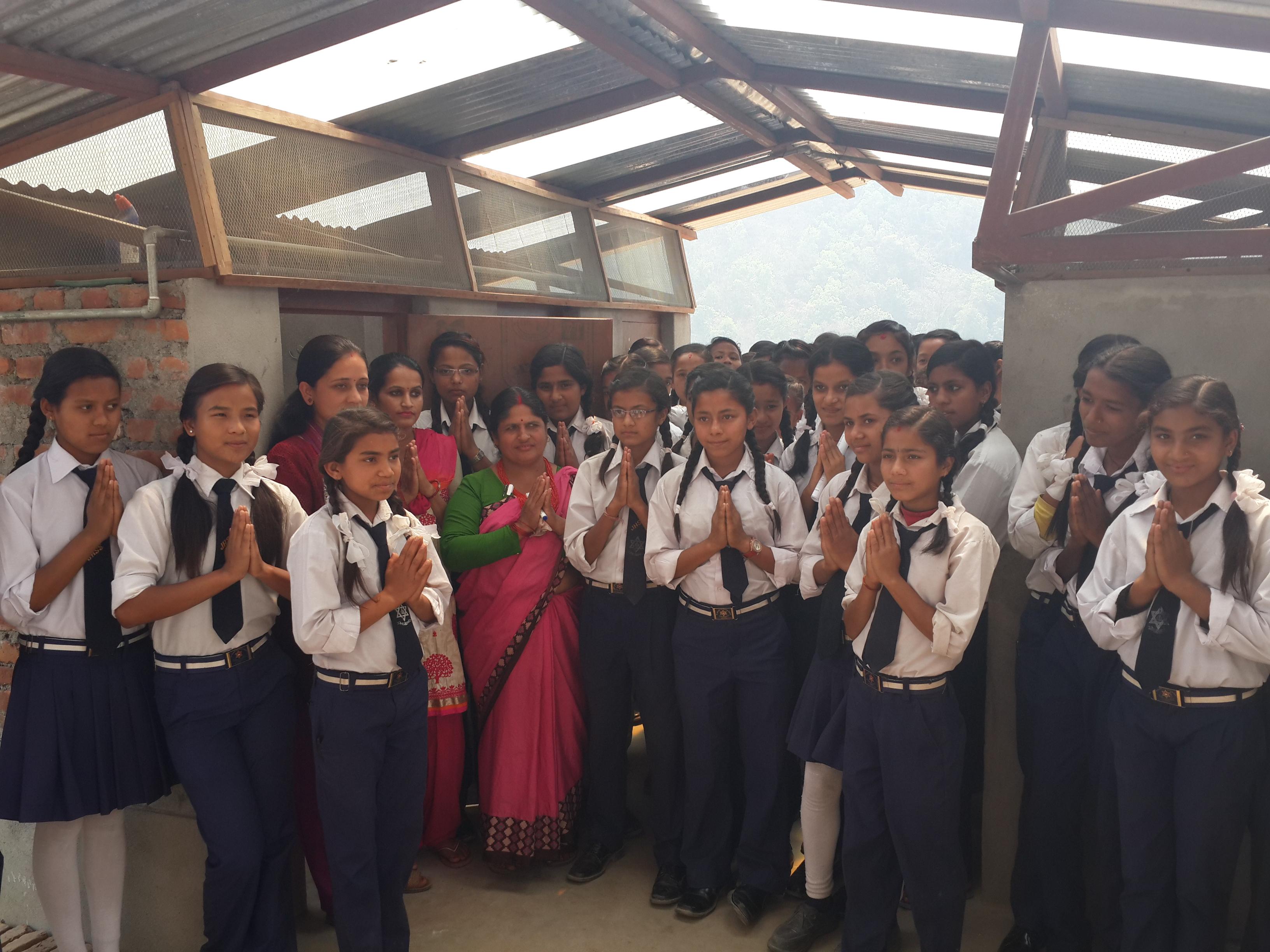 Shree Jalapadevi School toilet handover