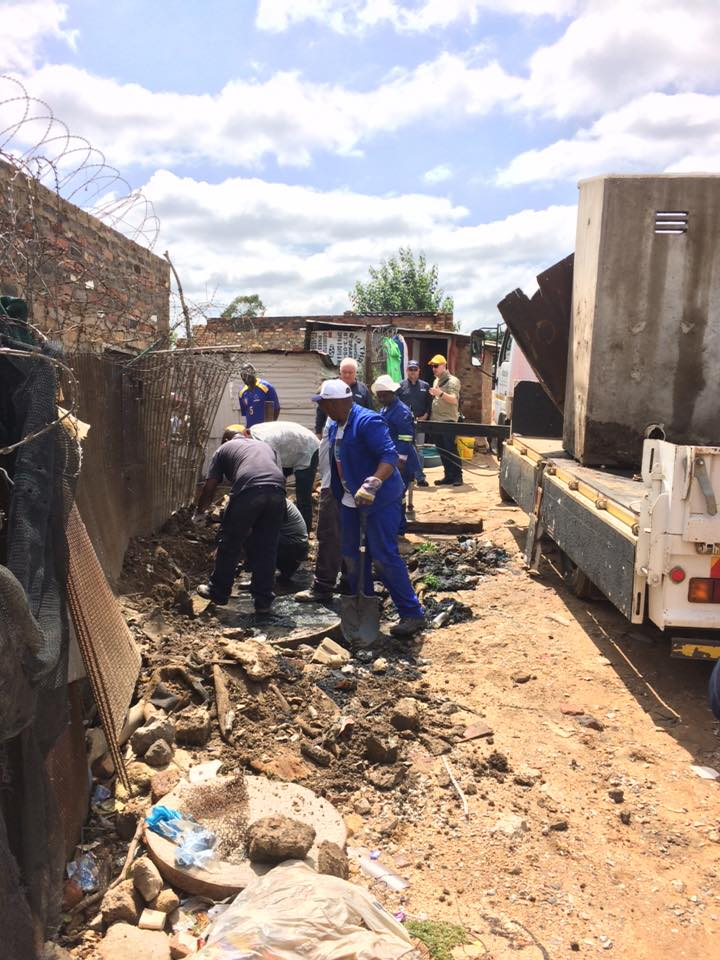 Community Plumbing Challenge Diepsloot, South Africa