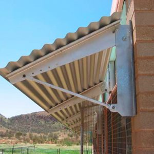 New shade awning-adjustable for a range of climates (hot/dry climate installation)